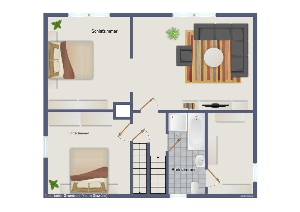 Obergeschoss – Fachwerkhaus (kein Maßstab)