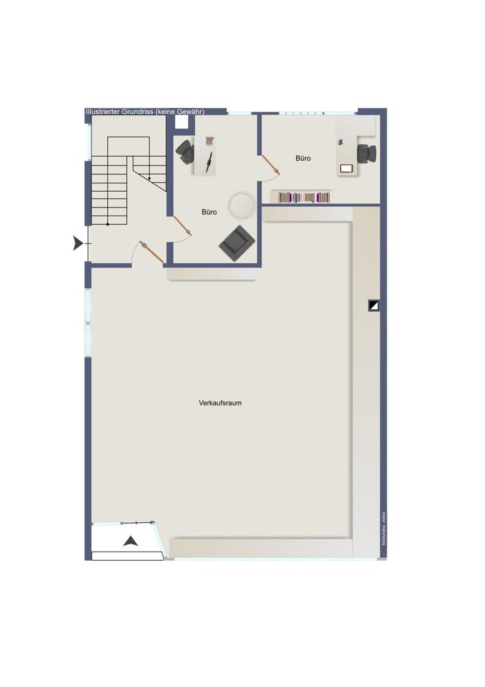 Erdgeschoss – Wohn- und Geschäftshaus (kein Maßstab)