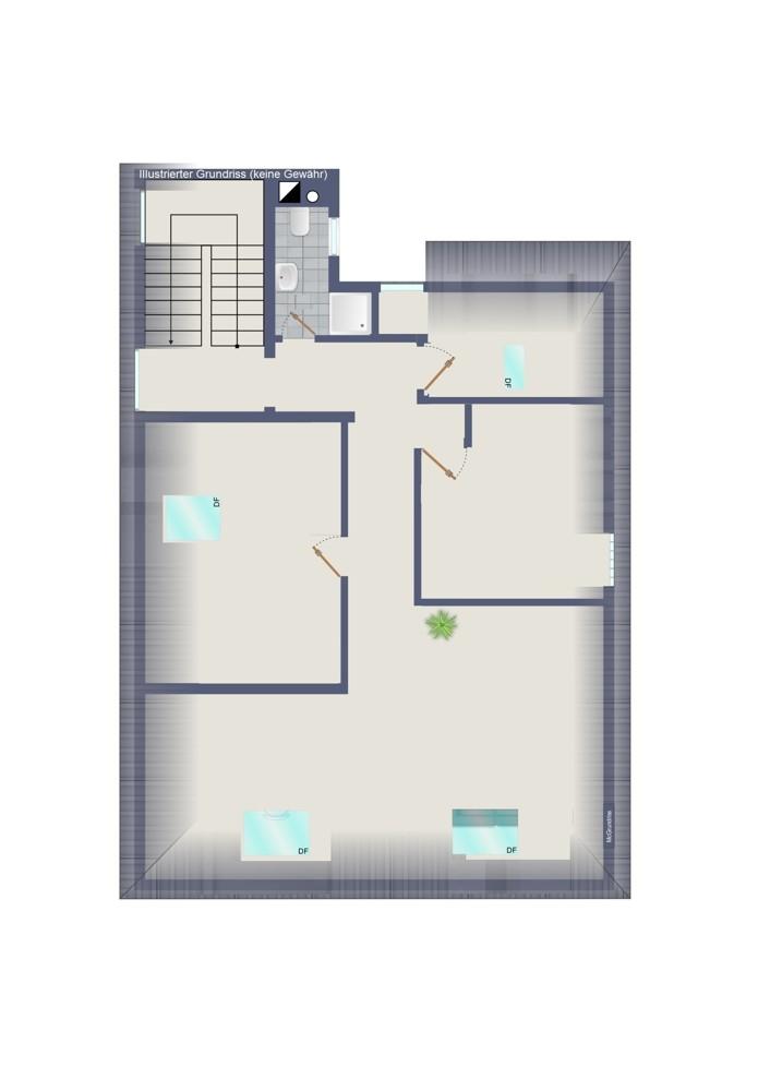 Dachgeschoss – Wohn- und Geschäftshaus (kein Maßstab)