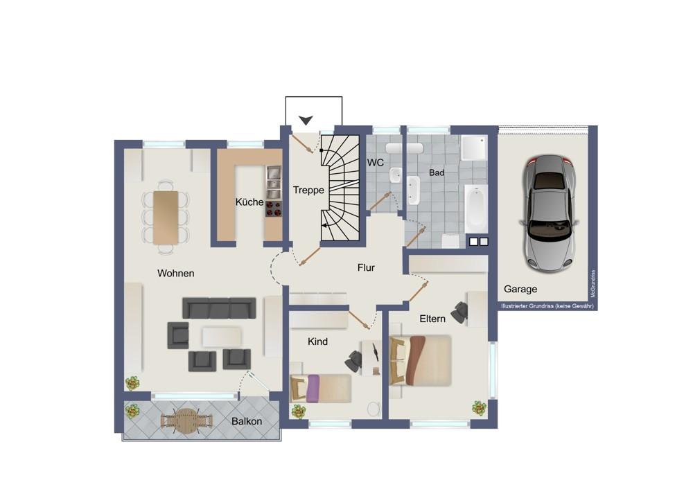 Erdgeschoss (kein Maßstab)