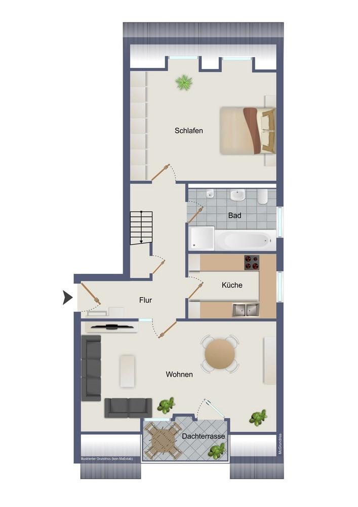 1. Dachgeschoss (kein Maßstab)