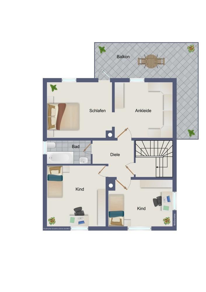 Obergeschoss (kein Maßstab)