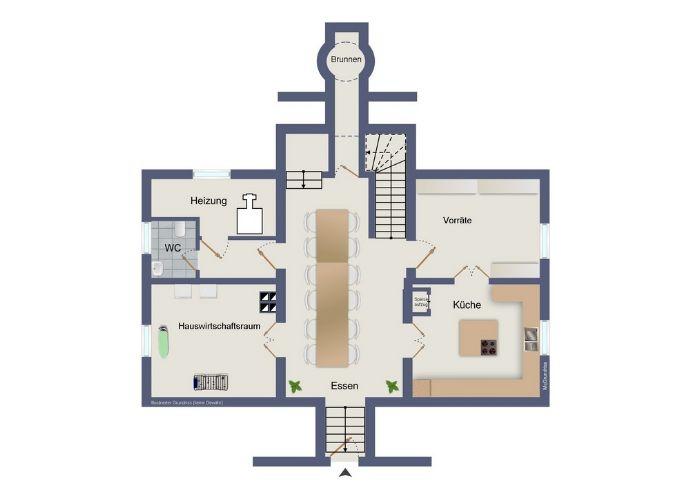 Untergeschoss (kein Maßstab)