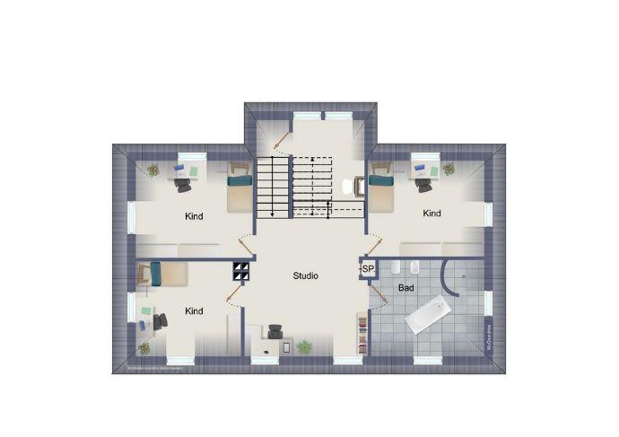 Dachgeschoss (kein Maßstab)