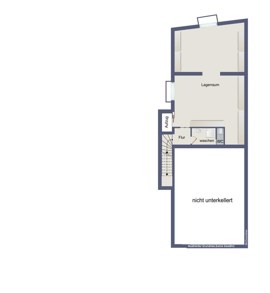 Kellergeschoss (kein Maßstab)